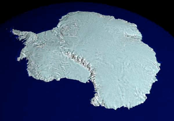 L'Antarctique vu par Radarsat © Nasa
