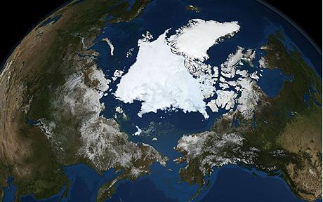 L'océan Arctique le 10 septembre 2008, vu par le radar du satellite Aqua © NASA