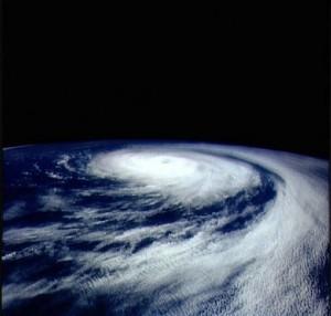 Cyclone dans le Pacifique © Nasa