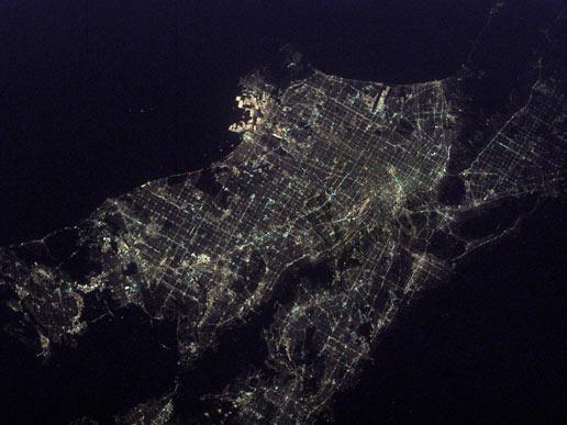 Los Angeles de nuit © NASA