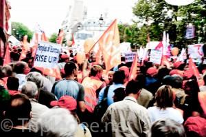 Manifestation contre la loi sur les retraites