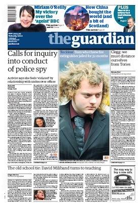 La Une du Guardian du 11 janvier 2010 © DR