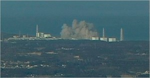 La centrale de Fukushima-Daiichi, après l'explosion samedi © NTV Japan