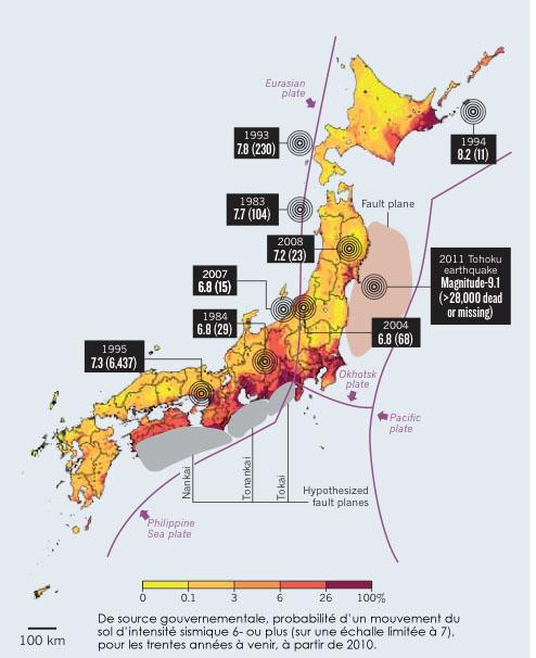 Les séismes meurtriers depuis 1979 se sont produits dans des zone à risque sismique modéré © Nature