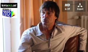 Nicolas Hulot, lors de son entretien avec Walter Bouvais et David Solon, de Terra Eco © Terra Eco