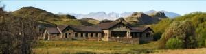 Un «lodge» luxueux, en pierres de la région, dans la vallée Chacabuco © Incahuella