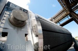 Un wagon de transport de combustible nucléaire usagé © Denis Delbecq