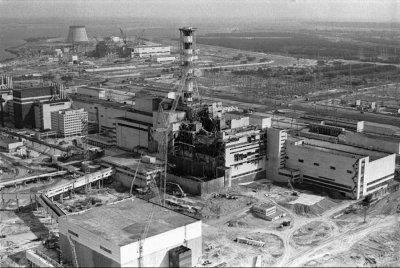 Tchernobyl, après l'accident, en 1986 © DR